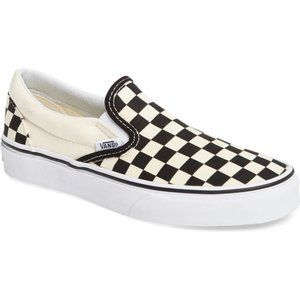 VANS Classic Slip-On Sneaker Black White Checker 6